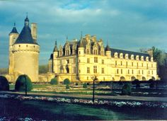Chenensau Castle in the Loire Valley, France It was built over a river and has an incredible biography of owners!
