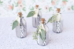From mini muffins and mini milk and cookies to mini skirts and mini disco balls, we've pretty much proven that bigger isn't better. And the same holds true for party favors. So whether you're throwing an engagement party, a baby shower, a birthday bash or just a random spring fling, go mini with these 13 favor jars! They might be less than pint-sized, but these vessels can hold flavor-packed goodies that will make a huge impact.