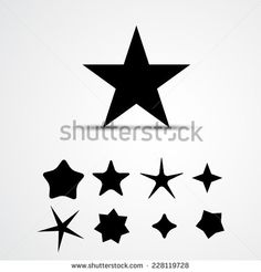 Star vector icon. Set - stock vector
