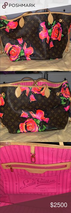 43d4bf2e094ba3 Stephen Sprouse Monogram Roses limited edition bag Louise Vuitton limited  edition Stephen Sprouse Monogram Roses Endless