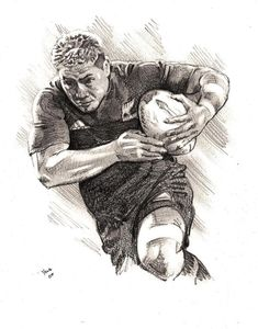 Jerry Collins Rugby Player Art