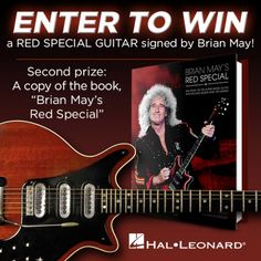 Win A Red Special Guitar Worth $2,000 Signed By Brian May!