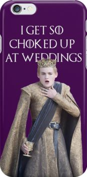 I get so choked up at weddings (purple wedding) game of thrones