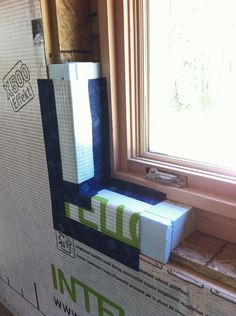 Some kind of new insulation! Now that the whole house is nicely wrapped in our Intello air-barrier, we have to deal with all the funny spots where we need to (for one r. Room Interior, Interior Design Living Room, House Roof Design, House Cladding, Home Insulation, Passive House, Diy Home Improvement, Home Remodeling, Building A House
