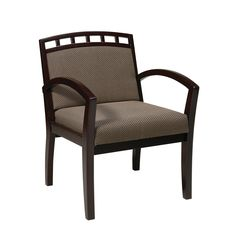 OFD Guest It Seating GI-400 Wood Guest Chair with Crown Back Available in Cherry, Mahogany or Espresso Finish and three different fabrics #office #chair #guestchair #reception