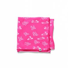 Minti Baby Bunnies, Cats & Planes Stretchy Wrap Hot Pink