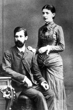 Sigmund Freud y su mujer, Martha Bernays