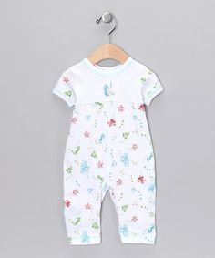 Look at this #zulilyfind! White Sea Life Playsuit - Infant #zulilyfinds