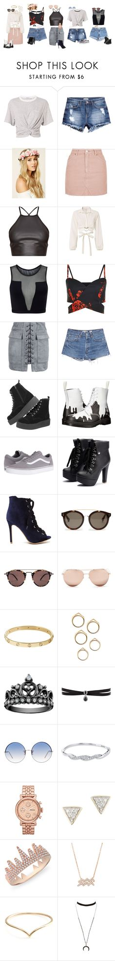 """""""Concert Ware"""" by cheriecufer on Polyvore featuring T By Alexander Wang, H&M, Forever 21, Topshop, Cinq à Sept, Varley, WithChic, RE/DONE, Levi's and Dr. Martens"""