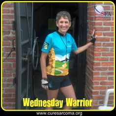 """""""So far, following a nutrient dense diet, acupuncture, yoga, and some herbal remedies, my scans every 3-4 months have been clean. Three weeks ago I had arthroscopic surgery to repair the hip tear, so I'm looking forward to a great biking season this Spring."""" - Laurel, Sarcoma Foundation of America Wednesday Warrior  http://www.curesarcoma.org/wednesday-warrior-laurel/  #WednesdayWarrior #CureSarcoma #cancer #sarcomaawareness #courage #inspiration #cycling #sarcoma"""