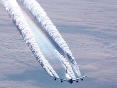 So here comes the conspiracy. Folks contend that military planes are being flown over our heads, deliberately SPRAYING chemicals into the atmosphere. But why?