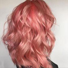 Gorgeous flamingo hues via @hairbytarenmaree using #NAKhair #manicpanicnyc. #pinkhair #coralhair #hairinspo #TheNAKCollective #NAKhair