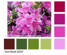 colour palette + rhododendron - Google Search