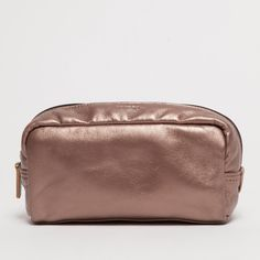 Lucy - Leather Make Up Bag - Metallic Bronze