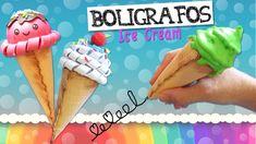 BOLÍGRAFOS Ice Cream - Bolis con forma de Cono Helado