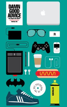 What's in your studio? by Kareem Gouda, via Behance