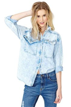Gallatin Denim Blouse