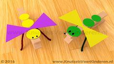 Insect van wasknijper - Knutsels Voor Kinderen - Leuke Ideeën om te Knutselen…