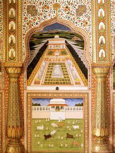 Wall painting City Palace, Jaipur