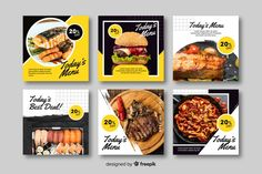 People with hats social media template template sales Food Poster Design, Food Menu Design, Food Packaging Design, Instagram Design, Instagram Posts, Instagram Feed, Fotos Free, Desgin, Banner Design Inspiration