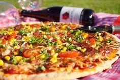Pizza ze zakysané smetany