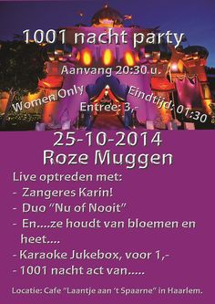 25-10-2014 1001 nacht bij de Roze Muggen
