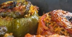 Absolutely delicious dishes you need to try. Greek Recipes, Vegan Recipes, Cooking Recipes, Greek Desserts, Kitchen Recipes, Galaktoboureko Recipe, Greek Stuffed Peppers, Veggie Dinner, Greek Cooking
