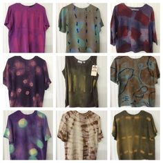 Tie-dyed shirts with Rit Dye