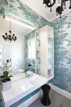 Florence Broadhurst wallpaper. No one has done metallics quite like hers since Flo.