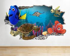 H051 #finding nemo dora nursery kids wall #decal poster 3d art stickers #vinyl ro, View more on the LINK: http://www.zeppy.io/product/gb/2/302135684838/