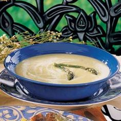 Asparagus Brie Soup Recipe. Never had it, but it looks so unhealthy and delicious!