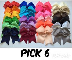 6 Extra Large Cheer Bows Cheer Bows Big by KristysLilBowtique