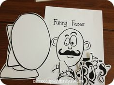 Create Funny Faces Busy Bag Idea - Love the face