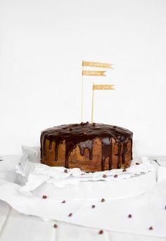 chocolate-peanut butter birthday cake.