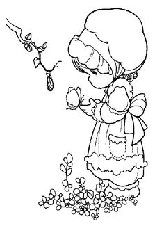 Precious Moments coloring pages to use for embroidery