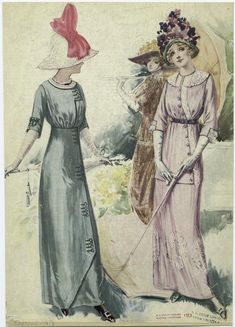 [Women in dresses, United States, 1910s.]  1913