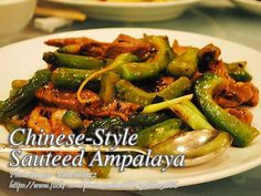 Ginisang ampalaya or sauteed bitter melon is a popular Filipino vegetable dish. But the popular kind of ginisang ampalaya is with beaten eggs. #SauteedAmpalaya Filipino Vegetable Dishes, Vegetable Recipes, Best Pork Recipe, Pork Recipes, Chinese Pork, Pinoy Food, Roasted Chicken, Chinese Style, Food Print