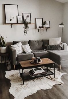 Small Apartment Living, Living Room On A Budget, Living Room Grey, Small Living Rooms, Living Room Modern, Apartment Couch, Apartment Ideas, Decorating Small Apartments, Living Room Decor Ideas Apartment