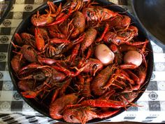 Cajun crayfish boil, a favorite of Dave and Danna's.  This is what they served at our wedding dinner party.
