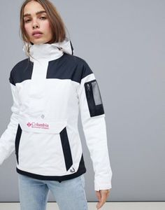 Shop the latest Columbia Challenger Pullover in White trends with ASOS! Free delivery and returns (Ts&Cs apply), order today! Camping Outfits, Trekking Outfit, Summer Hiking Outfit, Casual Skirt Outfits, Jackets For Women, Clothes For Women, Anorak Jacket, Sports Jacket, Outdoor Outfit