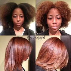 Silk press: Straightening for natural hair or transitional styling for perm to natural without the Big Chop