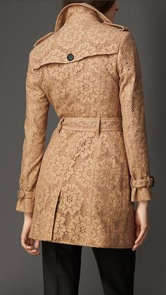 Burberry London English Floral Lace Trench Coat - A trench coat crafted in English-woven Leavers lace.  Discover the women's outerwear collection at Burberry.com
