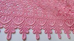 renda Guipir rosa claro