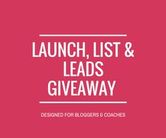 If you blog, make sure to enter this amazing giveaway. ConvertKit, Leadpages, WP Engine, and more! Launch, List & Leads Giveaway