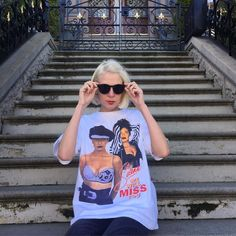 """Fauve rockin' the Selena memorial tee. Size XL and measures 22"""" pit to pit, 26.5"""" length. $48 ($5 domestic / $20 international.) Available in shop, to order by phone at 415-796-2398 or send PayPal payment to afterlifeboutique@gmail.com and reference item in post. Call or DM for questions."""