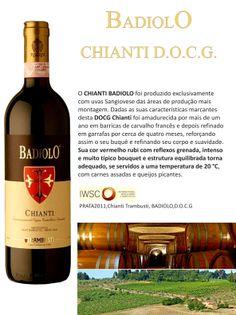o Delicioso Chianti BADIOLO Trambusti importado pela Chaves Oliveira Wines/ (11) 2155 0871