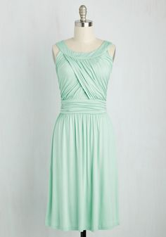 So Happy to Gather Dress in Mint. What's better than a hang sesh with pals? #mint #modcloth