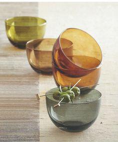 $48 Como Glass Bowl Collection Set of 4