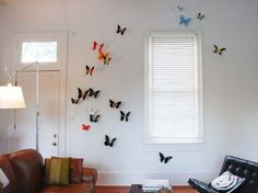 Modern Green Wall Decoration by Paul Villinski Modern Interior, Interior Design, Interior Ideas, Green Wall Decor, Butterfly Wall Decor, Wall Design, Sweet Home, Bedroom Decor, Table Decorations