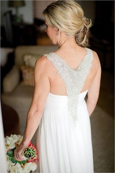 Allure beading backless wedding gown.